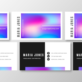 Sjabloon voor visitekaartjes abstracte kleurrijke stijl