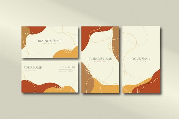 Sjabloon voor visitekaartjes abstracte vorm