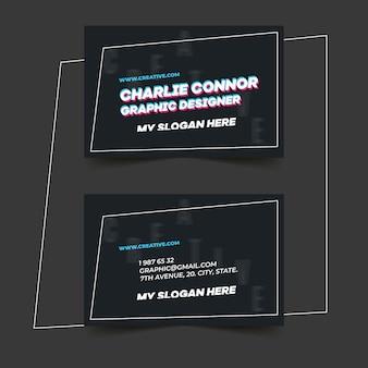 Sjabloon voor visitekaartjes grafisch ontwerper