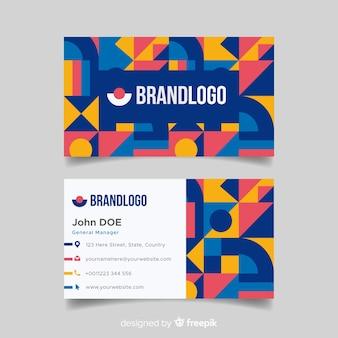 Sjabloon voor visitekaartjes in abstracte stijl