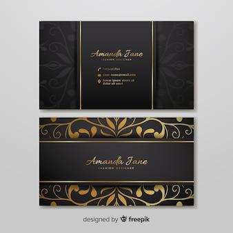 Sjabloon voor visitekaartjes in elegante stijl
