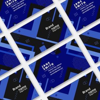 Sjabloon voor visitekaartjes in kleur van het jaar en abstracte stijl