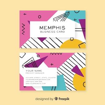 Sjabloon voor visitekaartjes in memphis-stijl