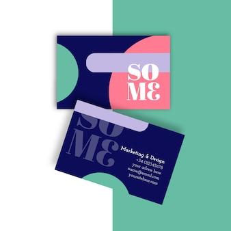 Sjabloon voor visitekaartjes in minimalistische stijl
