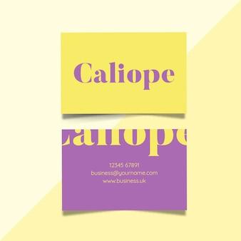 Sjabloon voor visitekaartjes in twee kleuren