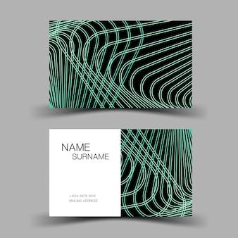 Sjabloon voor visitekaartjes luxe bewerkbare vector ontwerp illustratie eps10