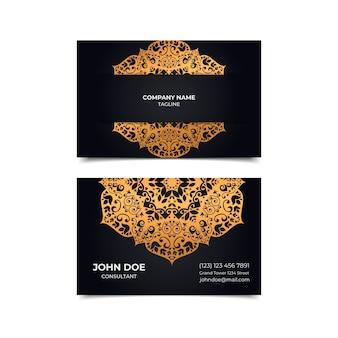 Sjabloon voor visitekaartjes mandala