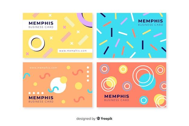Sjabloon voor visitekaartjes memphis