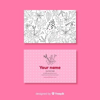 Sjabloon voor visitekaartjes met aard concept