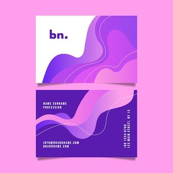 Sjabloon voor visitekaartjes met abstracte gradiëntvormen