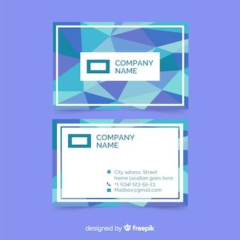 Sjabloon voor visitekaartjes met abstracte kleurovergangen