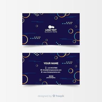 Sjabloon voor visitekaartjes met abstracte vormen