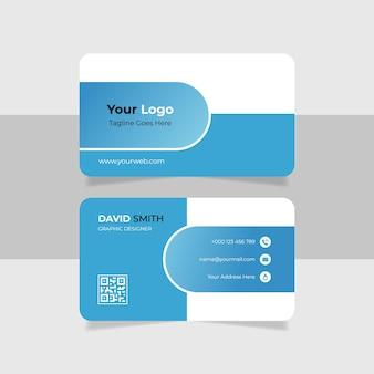 Sjabloon voor visitekaartjes met blauw verloop