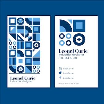 Sjabloon voor visitekaartjes met blauwe concept