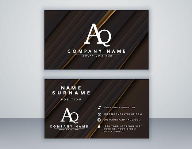 Sjabloon voor visitekaartjes met elegante element samenstelling schoon concept