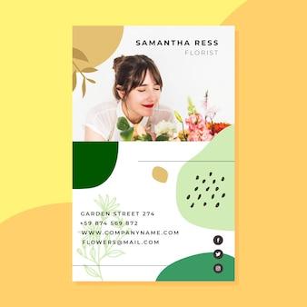 Sjabloon voor visitekaartjes met foto