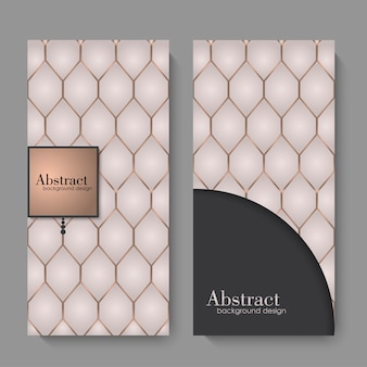 Sjabloon voor visitekaartjes met geometrische elementen