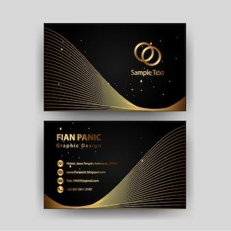 Sjabloon voor visitekaartjes met gouden concept luxe-element