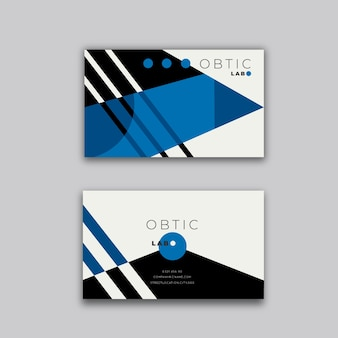 Sjabloon voor visitekaartjes met klassieke blauwe thema