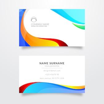 Sjabloon voor visitekaartjes met kleuren