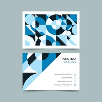 Sjabloon voor visitekaartjes met kleurovergang blauwe tinten