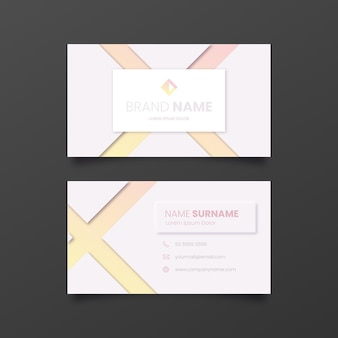 Sjabloon voor visitekaartjes met kleurovergang neumorph