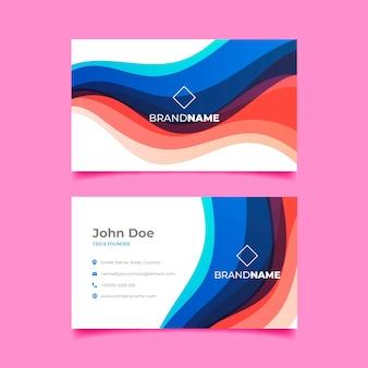 Sjabloon voor visitekaartjes met kleurovergang