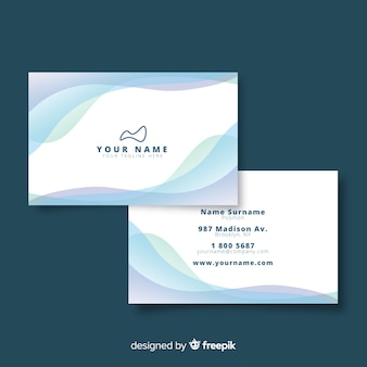 Sjabloon voor visitekaartjes met logo