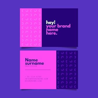 Sjabloon voor visitekaartjes met minimale stijl