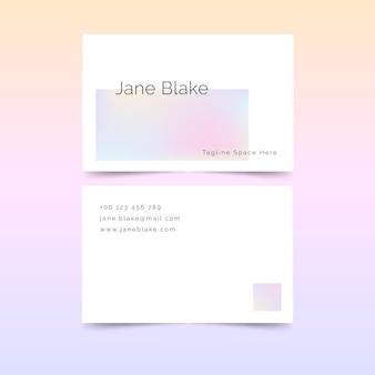 Sjabloon voor visitekaartjes met pastel verloop
