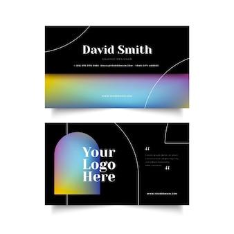 Sjabloon voor visitekaartjes met verloopkleuren