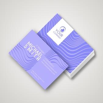 Sjabloon voor visitekaartjes met vervormde lijnen