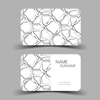Sjabloon voor visitekaartjes minimalistisch vectorontwerp bewerkbare afbeelding eps10