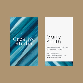 Sjabloon voor visitekaartjes ombre aquarel voor creatieve kunstenaars