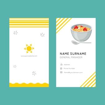 Sjabloon voor visitekaartjes ontbijt