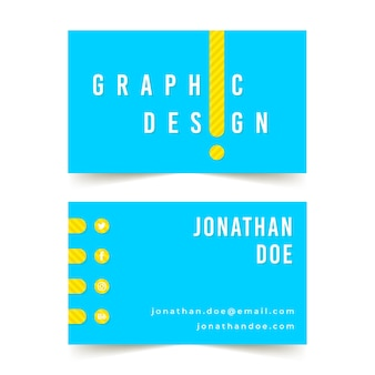 Sjabloon voor visitekaartjes ontwerper