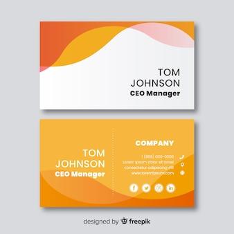 Sjabloon voor visitekaartjes platte ontwerp