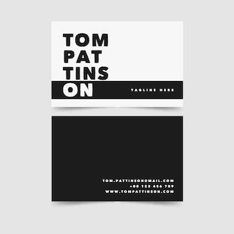 Sjabloon voor visitekaartjes ruimte zwart-wit kopiëren