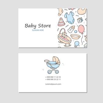 Sjabloon voor visitekaartjes van babywinkel