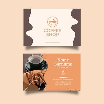 Sjabloon voor visitekaartjes van coffeeshop Premium Vector