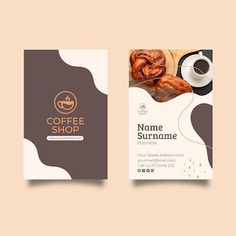 Sjabloon voor visitekaartjes van coffeeshop