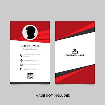Sjabloon voor visitekaartjes van de papercut-stijl rood met foto
