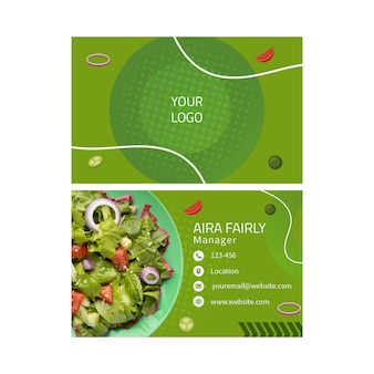 Sjabloon voor visitekaartjes van gezonde voeding