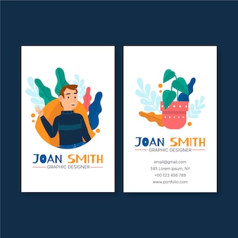 Sjabloon voor visitekaartjes van grafisch ontwerper
