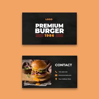 Sjabloon voor visitekaartjes van hamburgers restaurant