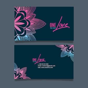 Sjabloon voor visitekaartjes van mandala-bedrijf