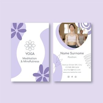Sjabloon voor visitekaartjes van meditatie en mindfulness