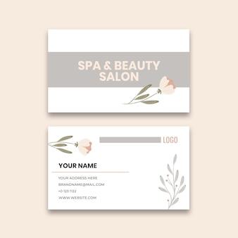 Sjabloon voor visitekaartjes van schoonheidssalon Premium Vector