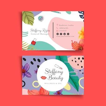 Sjabloon voor visitekaartjes van schoonheidssalon