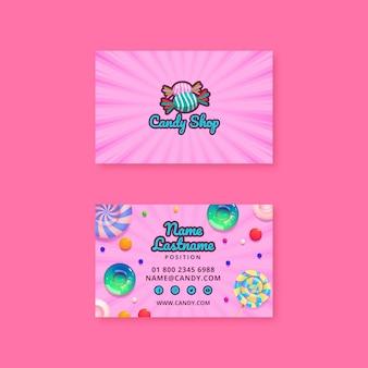 Sjabloon voor visitekaartjes van snoepfabriek